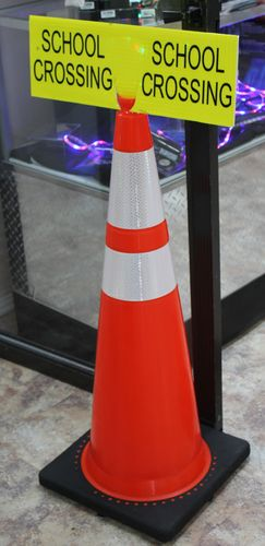 "Ameri-Viz 6""X18"" TRAFFIC CONE SIGN - DIAMOND GRADE REFLECTIV"