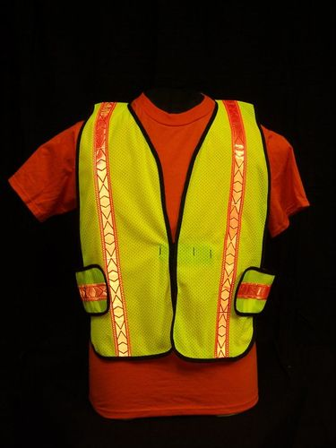 Ameri-Viz LIME YELLOW SOFT MESH VEST/ST/HS/XL