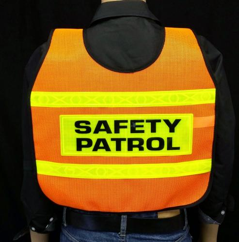 MTS Safety REFLECTIVE ORANGE VEST/4SP/DIAG STRIPE