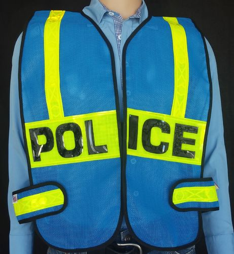 ROYAL BLUE REFLECTIVE VEST/2LP/HS